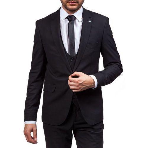 Czarny garnitur męski Bolf 5005-1, czarny