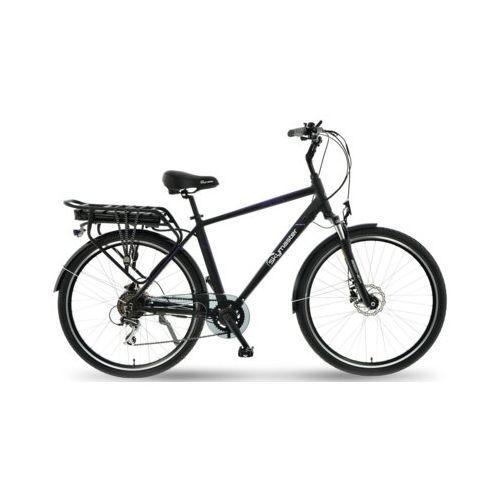 Rower elektryczny energy trekking 28 m20 czarno-niebieski darmowy transport marki Skymaster