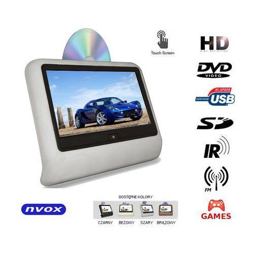 "NVOX VR9917THD GR Monitor dotykowy samochodowy zagłówkowy LCD 9"" cali LED HD DVD USB SD IR FM GRY 12V"