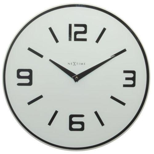Nextime Zegar ścienny shuwan 43 cm, biały (8148 wi) (8717713006534)