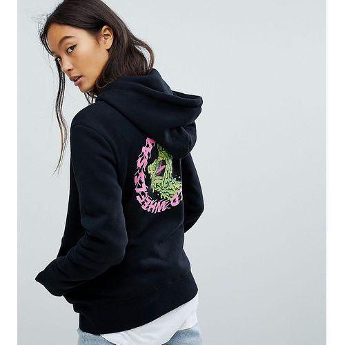 hoodie with logo back print - black, Santa cruz
