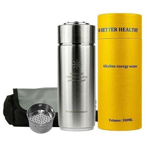 Jonizator wody Water Flask srebrny + filtr + etui gratis! (5903819641714)