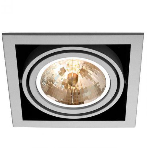 Wpuszczana LAMPA sufitowa MAE 1/R/SANDBLASTED ALUMINIUM Sotto Luce metalowa OPRAWA sufitowa do wbudowania kwadrat aluminium (1000000210491)