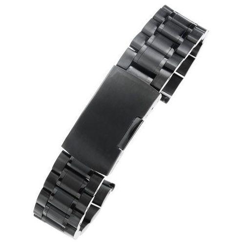 Czarna stalowa bransoleta do zegarka SB1801 - 18mm, kolor czarny