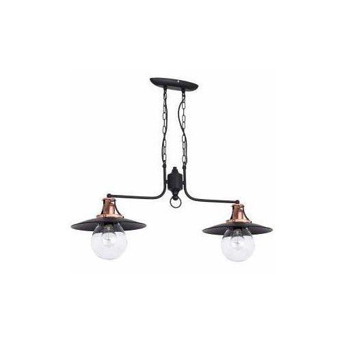 Lampa wisząca zwis żyrandol cancun 2x60w e27 antyczna miedź 7713 marki Luminex