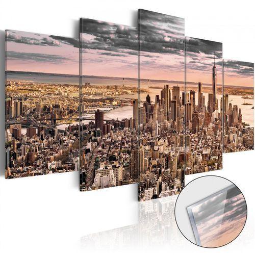 Artgeist Obraz na szkle akrylowym - nowy jork: poranne niebo [glass]