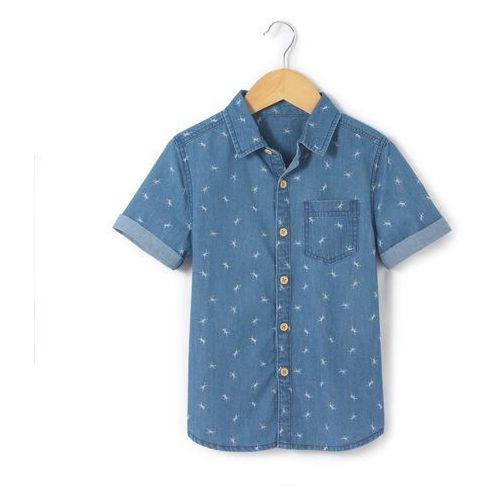 Koszula z krótkim rękawem z materiału z nadrukiem 3-12 lat marki Abcd'r