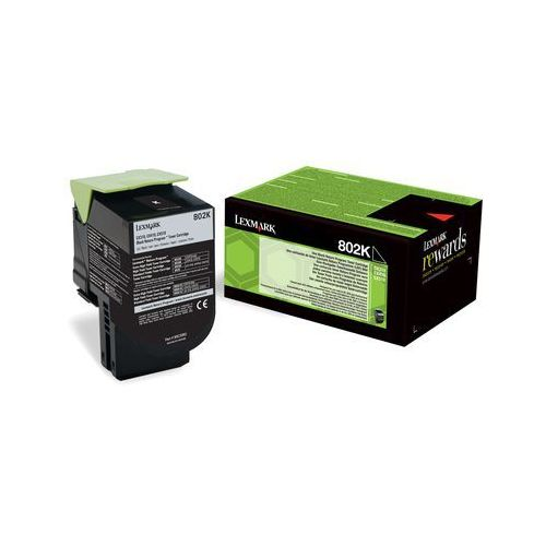 Lexmark toner Black 802KE, 80C20KE (return), 80C20KE