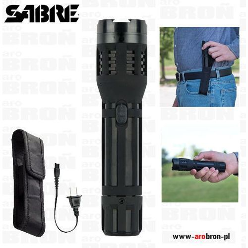 Paralizator latarka Sabre G-S 2000SF - moc 5 000 000 V, wbudowany akumulator
