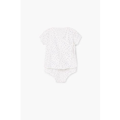 - komplet dziecięcy (koszulka + majtki) 62-92 cm marki Mango kids