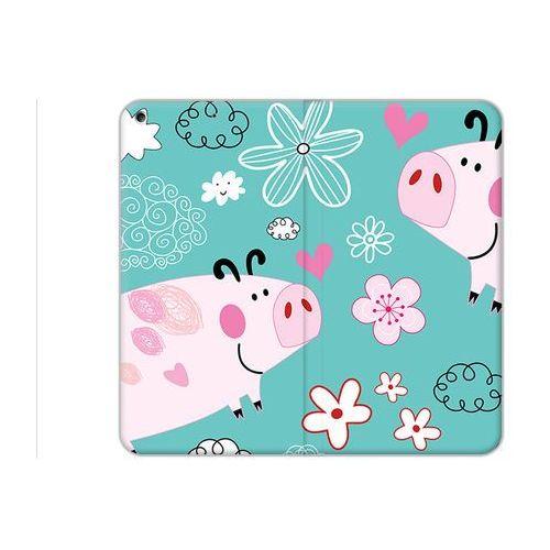 Apple iPad (2017) - etui na tablet Flex Book Fantastic - różowe świnki, kolor różowy