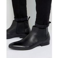 mister chelsea boots in black leather - black, Dune