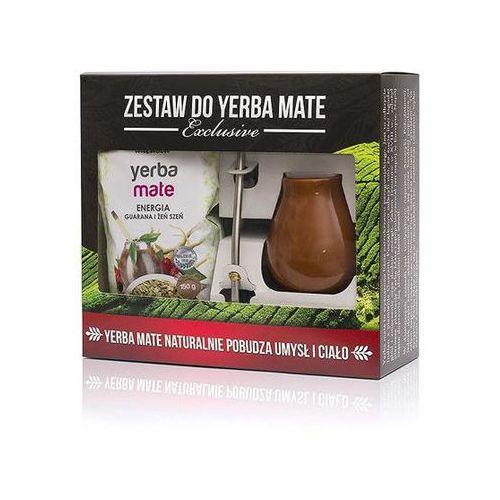 Zestaw yerba mate EXCLUSIVE Bombilla Inox Mini Brąz Energia, guarana i żeń szeń 150g (5952501014015)