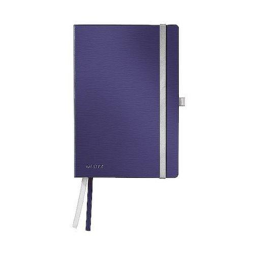 Notatnik w miękkiej oprawie Leitz Style A5 80 kartek kratka, tytanowy błękit