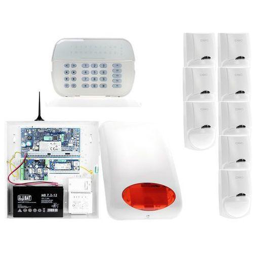 ZA12548 Zestaw alarmowy DSC 8x Czujnik ruchu Manipulator LED Powiadomienie GSM, ZA12548