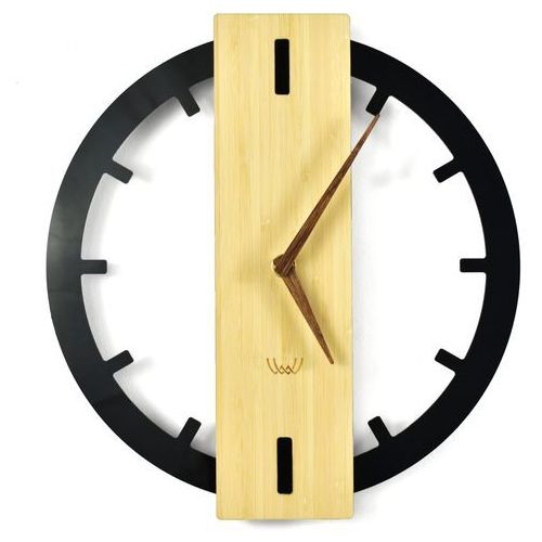 Nowoczesny zegar ścienny bamboos plexi marki Woodwaycrafts