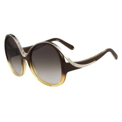 Okulary Słoneczne Chloe CE 713S 228, kolor żółty