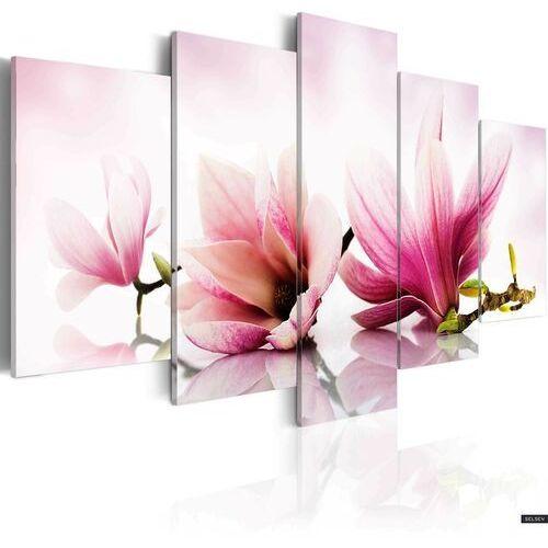 obraz - magnolie: różowe kwiaty 100x50 cm marki Selsey