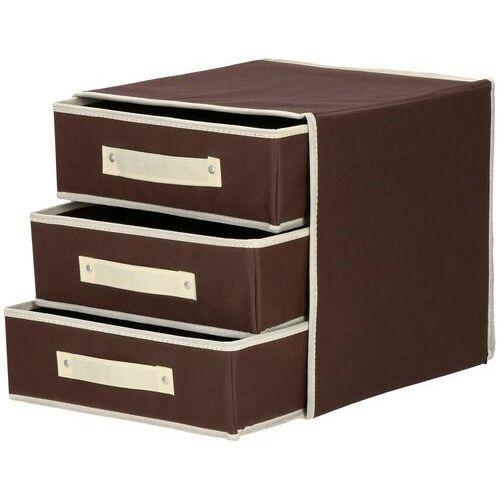 Organizer do szuflady na bieliznę zestaw 4 szt. brązowy