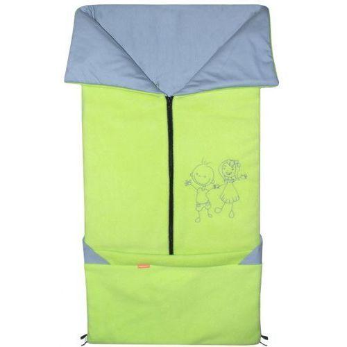 Emitex śpiworek do wózka/fusak 2w1 Fanda, limonkowy/jasnoszary (8595624425015)