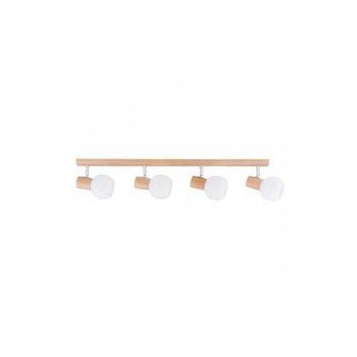 Listwa lampa oprawa sufitowa Spot Light Karin 4x40W E14 dąb/chrom/biały 2231470, kolor Drewno
