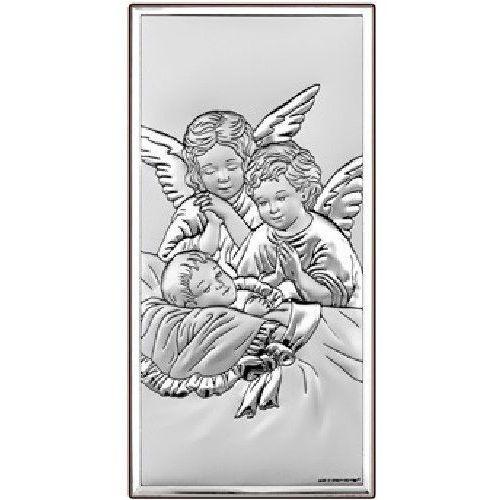 Obrazek Aniołowie Stróże Pamiątka chrztu- (BC#6468)