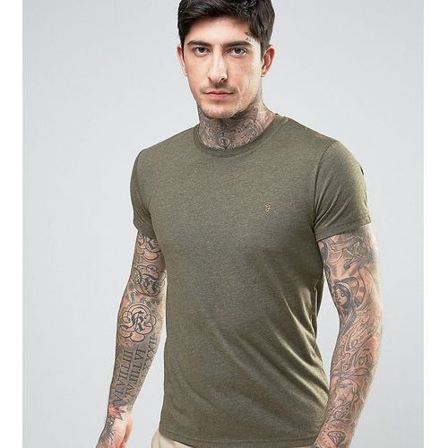 gloor slim fit logo marl t-shirt in dark green exclusive at asos - green, Farah, XS-S