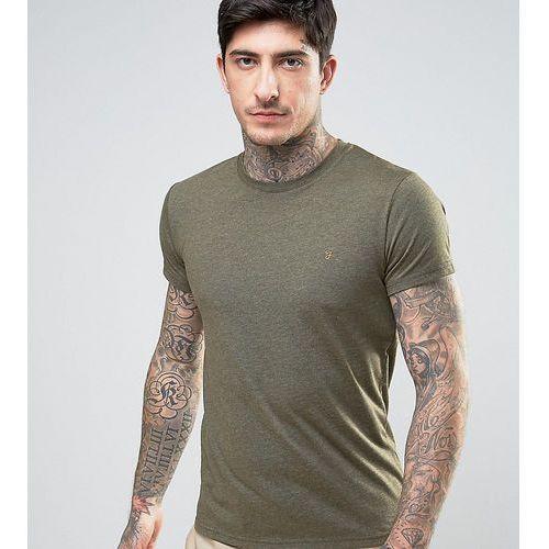 gloor slim fit logo marl t-shirt in dark green - green, Farah, XS-XL