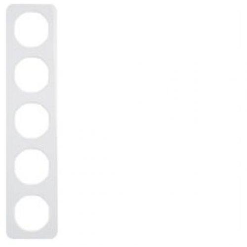Berker R.1 Ramka pięciokrotna IP20 biała 10152189 HAGER POLO (4011334392941)