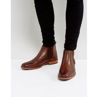 chelsea boots in brown leather - brown, Silver street