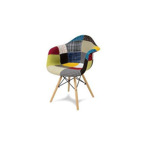 """Krzesło """"orio"""" patchwork z bukowymi nogami - różne kolory marki Pozostali"""