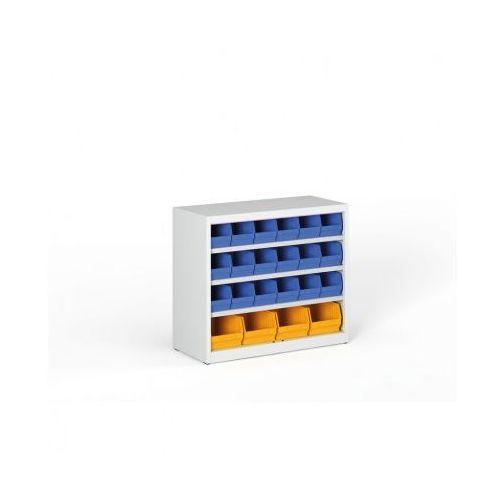 Regał z plastikowymi pojemnikami - 800x920x400 mm, 18x b, 4x c marki B2b partner