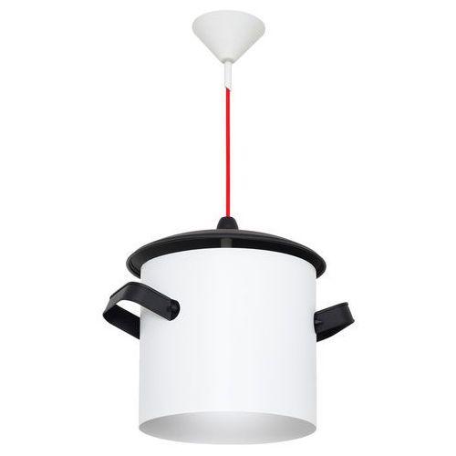 Lampa wisząca do kuchni garnek poti 1x40w e14 biała 788g/d marki Aldex