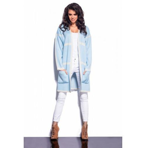 Sweter damski model ls181 sky blue/beige marki Lemoniade