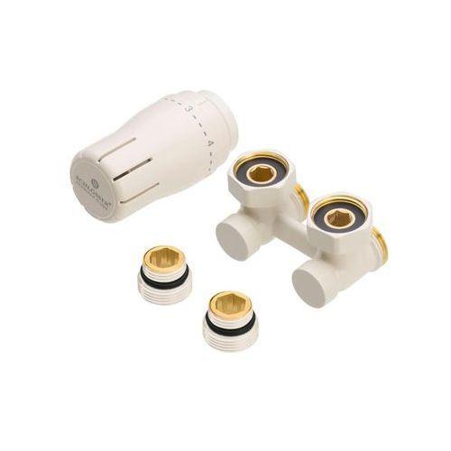 """Zestaw termostatyczny KĄTOWY 3/4"""" RAL1013 SCHLOSSER (5900949301778)"""