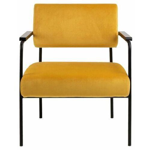 Actona Nowoczesny fotel cloe vic żółty to mebel, który zachwyca swoim wykonaniem (5713941107367)