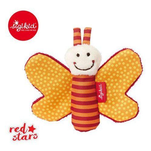 Sigikid Miękka mini-przytulanka pomarańczowy motylek z szeleszczącymi skrzydełkami red stars - (4001190411818)