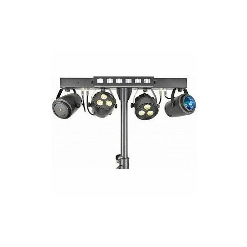qtx Stage Bar Zestaw oświetleniowy - PAR+ Fireball + Laser + UV/Strobo + Statyw, 151.553UK