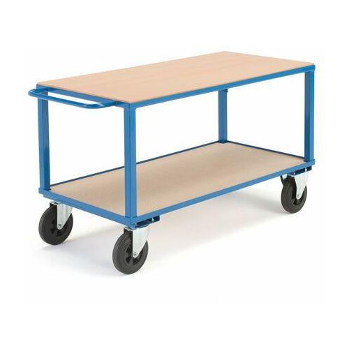 Aj produkty Wózek warsztatowy, bez hamulców, 2 koła skrętne, 600 kg, 1400x700x830 mm