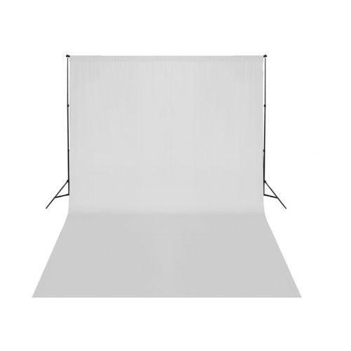 vidaXL System zawieszenia tła z białym tłem 500 x 300 cm (8718475820925)