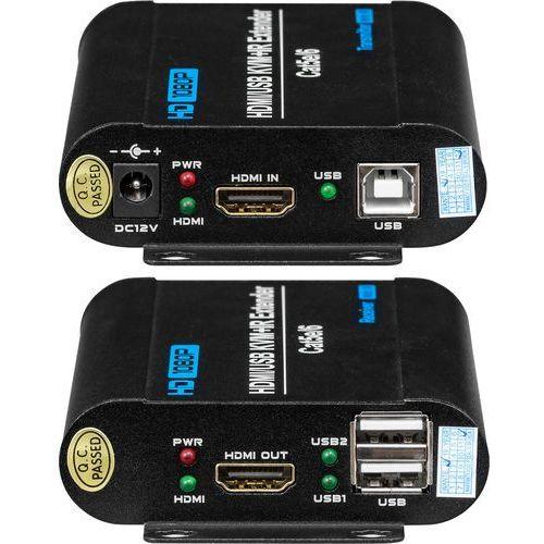 Przedłużacz hdmi oraz usb wykorzystujący jedną skrętkę -utp-kvm (set) marki Bcs