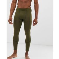 New Look SPORT running tights in khaki - Green, kolor zielony