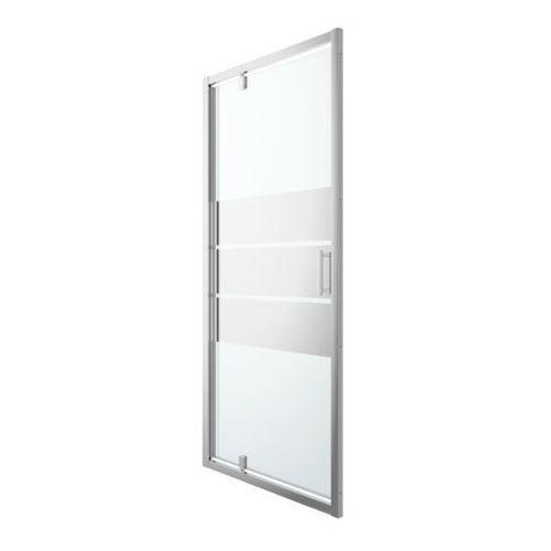 Goodhome Drzwi prysznicowe wahadłowe beloya 100 cm chrom/szkło lustrzane