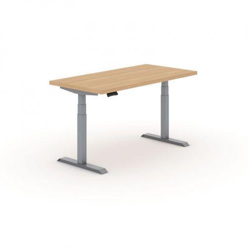 B2b partner Stół warsztatowy z regulacją wysokości, 2 silniki, 1600 x 800 mm