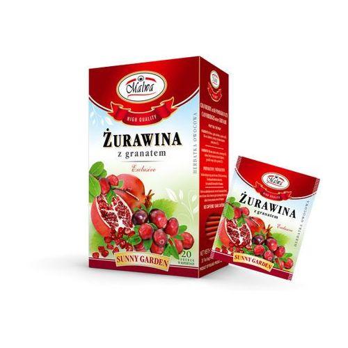 Malwa sunny garden herbata żurawina z granatem 20t marki Malwa tea