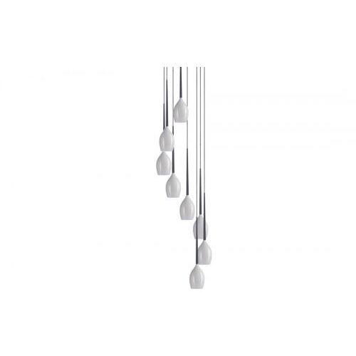 Azzardo Izza 8 AZ0160 MD1288A-8W Lampa wisząca zwis 8x40W E14 biała - NEGOCJUJ CENĘ (5901238401605)