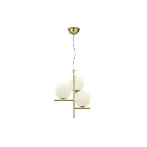 Trio Pure 302000308 lampa wisząca zwis 3x28W E14 mosiądz mat / biały