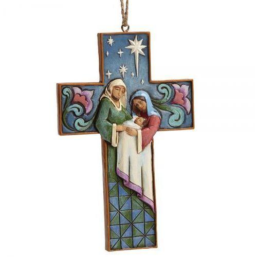 Jim shore Święta rodzina zawieszka krzyżyk holy family cross (hanging ornament) 4055129 figurka ozdoba świąteczna