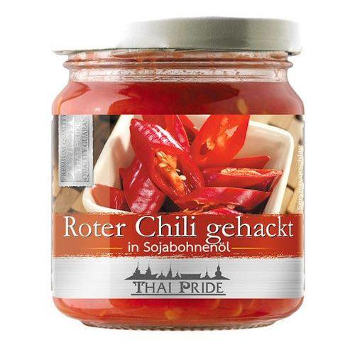 Czerwone chili siekane w oleju sojowym 180g - Thai Pride