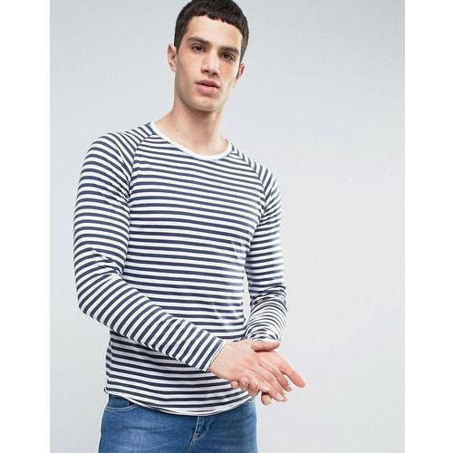 Only & Sons Long Sleeve T-Shirt With Raglan Sleeves In Stripe - Blue, kolor niebieski